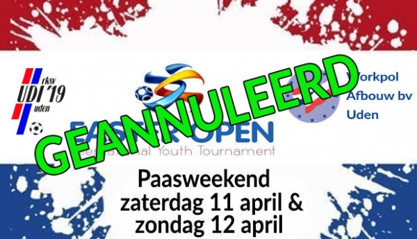 Easter Open Tournament 2020 geannuleerd